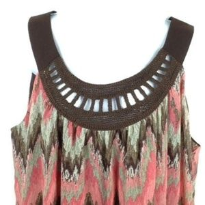 Signature by Larry Levine Tops - Signature by Larry Levine Sz 1X Crochet Top Lined